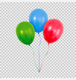 red green and blue helium balloons set isolated on vector image vector image