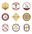 Repair Workshop Emblems Colored vector image