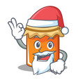 santa jam mascot cartoon style vector image vector image