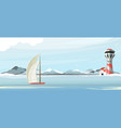 seascape lighthouse vector image vector image