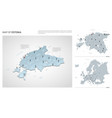 set estonia country isometric 3d map estonia vector image vector image