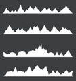 set silhouettes chains mountains vector image vector image