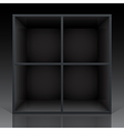 shelf black vector image