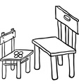 simple black and white chairs vector image vector image