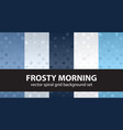 spiral pattern set frosty morning seamless vector image vector image