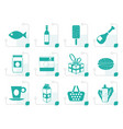stylized shop food and drink icons 1 vector image vector image
