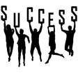 Success concept with young team silhouettes vector | Price: 1 Credit (USD $1)
