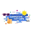 Summer sale colorful typography Poster vector image vector image