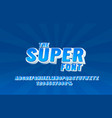 super font set collection letters and numbers vector image vector image