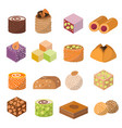 sweets dessert from east isolated food vector image vector image