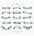 teal and gray ribbon banners design elements set vector image vector image