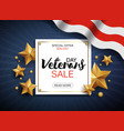 veterans day sale banner template patriotic vector image vector image
