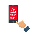 virus alert icon isolated on white background vector image
