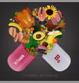 vitamin b6 foods vector image vector image