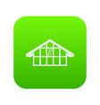 warehouse icon digital green vector image vector image