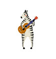 zebra playing guitar cute cartoon animal musician