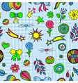 set of fashionable patches elements like vector image