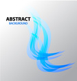 Abstract background Blue Flame vector image
