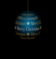 abstract christmas ball from text merry christmas vector image