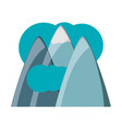 alps and clouds icon vector image vector image