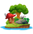 an isolated nature island vector image vector image