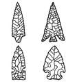 Arrowhead Drawings vector image vector image