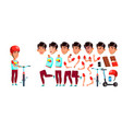 asian boy boy schoolboy kid primary school vector image vector image
