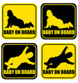 baby on board label sticker vector image vector image
