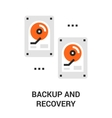 backup and recovery icon vector image vector image