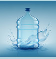 big bottle with clean water plastic container vector image vector image