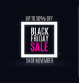 black friday neon vector image