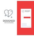broken love heart wedding grey logo design and vector image vector image