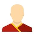 Buddhist monk icon flat style vector image