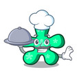 chef with food free form mascot cartoon vector image vector image