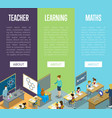 chemistry arts and maths lessons at school vector image
