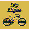 City Bicycle Vintage Bike Background vector image vector image