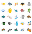 city infrastructure icons set isometric style vector image vector image