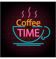 coffee time coffee cup black background ima vector image vector image