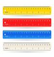 Color school measuring rulers in centimeters and vector image