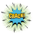 comic crack word background vector image vector image
