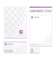 Corporate style template grid white vector image