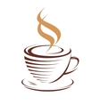Cup of hot steaming coffee vector image vector image