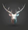 deer low poly 3d animal shape silhouette white vector image