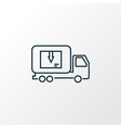 delivery truck icon line symbol premium quality vector image