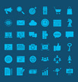 digital marketing glyph web icons vector image