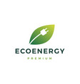 eco energy logo icon vector image vector image