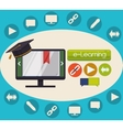 Elearning and education design vector image
