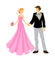 elegant bride and groom vector image vector image