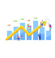 financial people make profit and money vector image