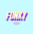 font 3d bold funky color style vector image